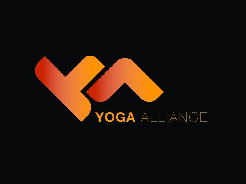Logo development gradient yoga red orange logo design balance logo
