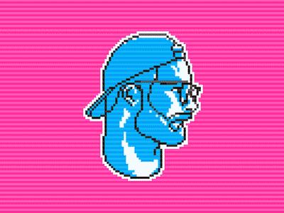 pixelChris art retro portrait profile pixel