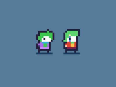 New and old Joker - Pixel Art Character batman joker pixelart graphic arcade retro character art pixel game design