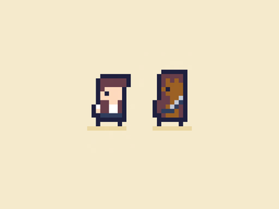Han Solo & Chewbacca - Daily Pixel Characterdd