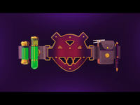 Superhero Utility Belt Motion Graphic