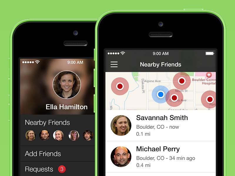 Find Friends Update ios iphone redesign
