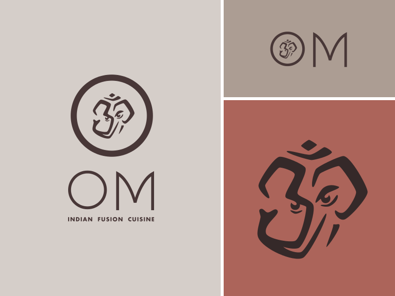 Om Indian Fusion Cuisine By Luma Vine Dribbble