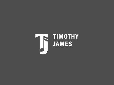 Musician Monogram musician music tim timothy james note negative space branding trumpet identity gray grey logo sans optical brand surprise serif white hidden play black icon
