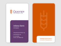 Leaven Business Card update