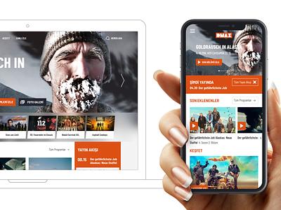 DMAX Website UI Design uxdesign uidesign responsive ui