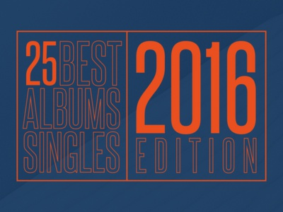 2016 Top 25 Albums and Singles website web ui spotify readymag music list layout editorial steelfish chart album