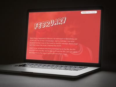 Music of 2017, side 2/12 90s responsive web publishing music editorial webdesign february