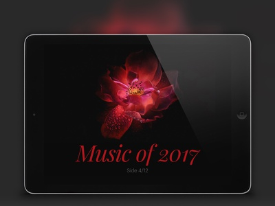 Music of 2017, side 4/12 webdesign web responsive publishing music march layout editorial