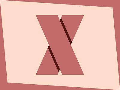 X mark flat shadow grid type vector x logo mark icon