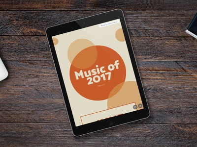 Music of 2017, side 6/12 parallax webdesign web responsive publishing music june layout editorial