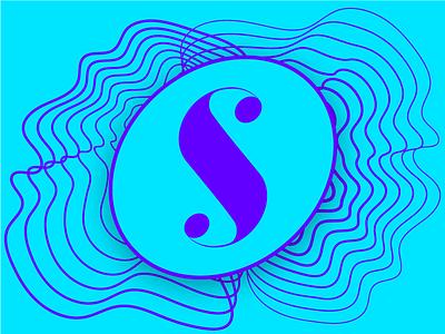 Sensory curves curves typography type mark icon logo s