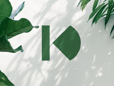 KD Monogram minimal mark modernist modernism monogram icon logo kd