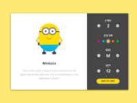 Daily UI Challenge #002 - Check Out (Those Minions)