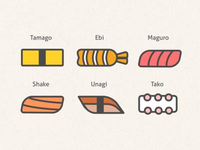 Sushi Box - Line Drawing