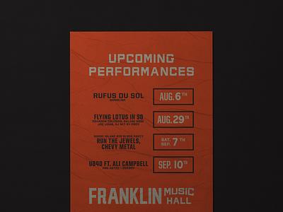 Franklin Music Hall branding venue music philadelphia philly poster design