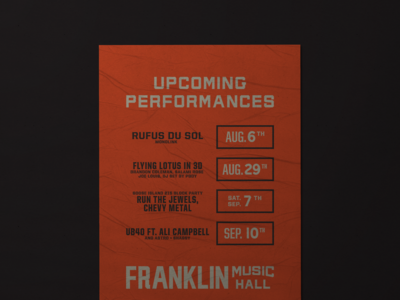 Franklin Music Hall branding venue music philadelphia philly poster design