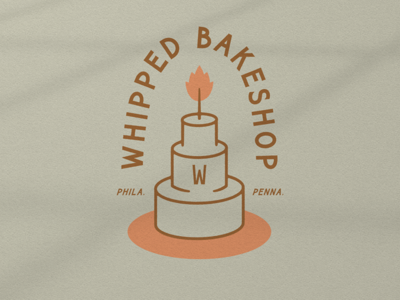 Whipped Bakeshop 001 bakery logo branding philadelphia philly bakeshop bakery custom typography illustration design