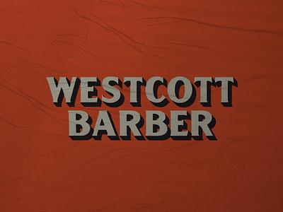Westcott Barber 001 barbershop barber branding mark logo typography design