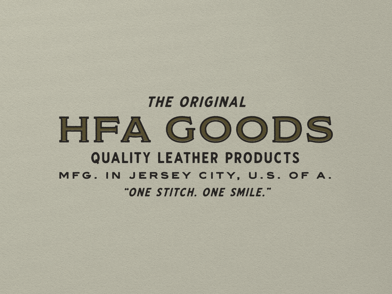 HFA Goods 001 leather wordmarks branding vintage wordmark logo typography design
