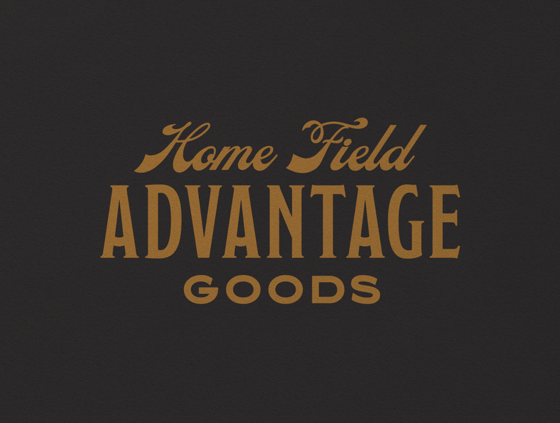 HFA Goods 002 wordmark heritage vintage branding mark logo typography design