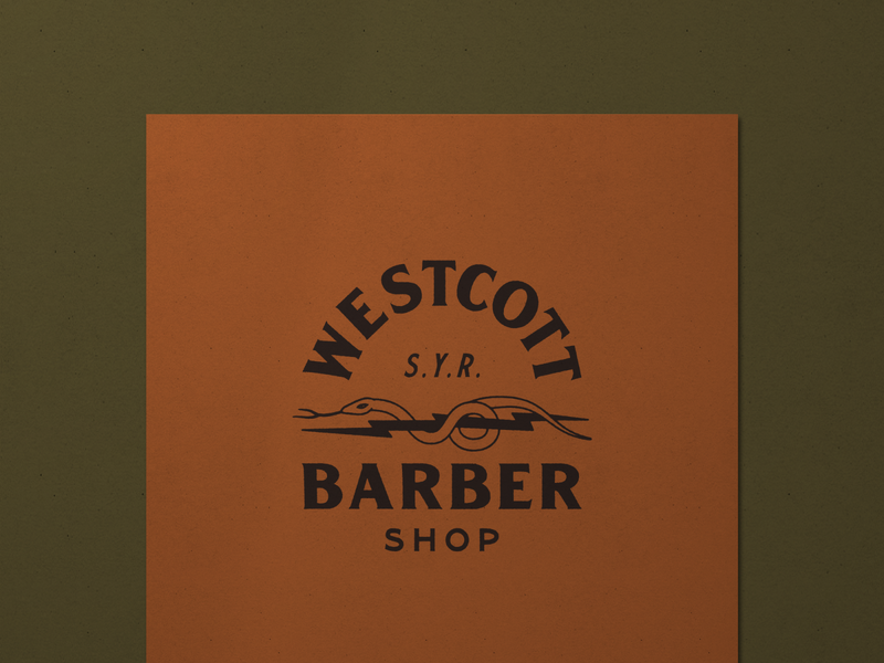 Westcott Barber 002 customtypography type mark graphic logo illustration typography design