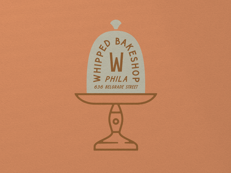 Whipped Bakeshop 002 philadelphia philly bakery heritage vintage graphic mark type typography illustration logo