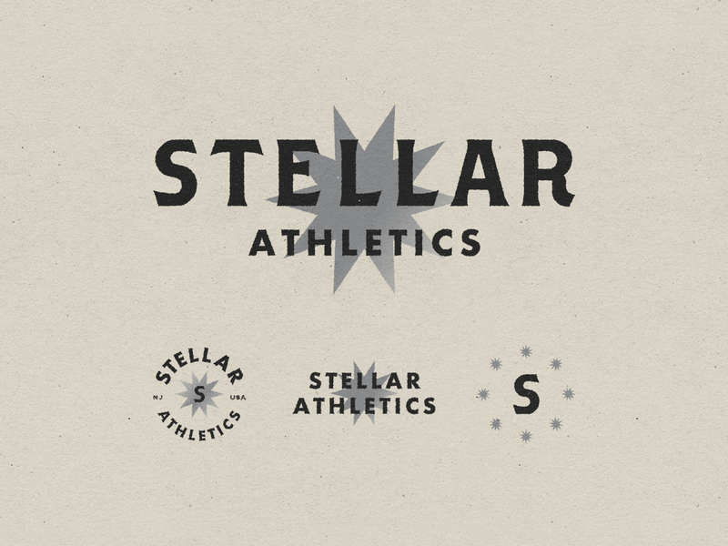Stellar Athletics 001 sports athletics stellar fitness gym branding mark logo typography design