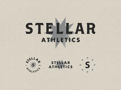 Stellar Athletics 001 sports athletics stellar fitness gym branding mark logo typography design