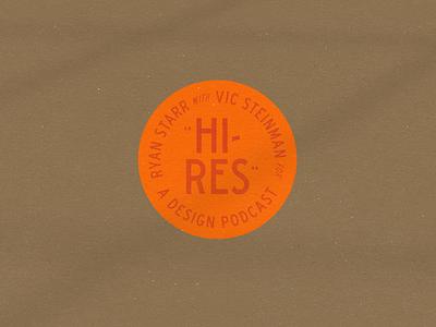 Hi-Res Podcast truehanddesign branding graphicdesign philadelphia philly interview podcast design