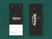 Steinie Brewing Co. Hangtags