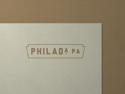 Philadelphia, PA branding logo lockup stationery letterhead philly philadelphia typography design