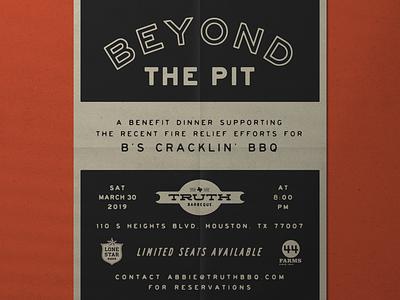 BBQ Event Flyer bbq flyer poster vintage graphic typography design
