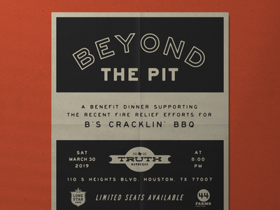 BBQ Event Flyer bbq flyer poster vintage graphic typography design