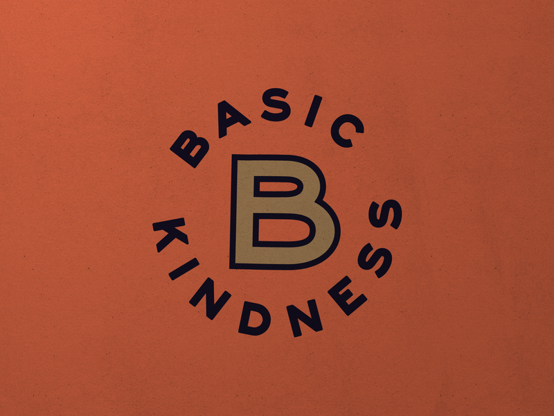 Basic Kindness No. 2 non profit identity branding type mark logo graphic typography design