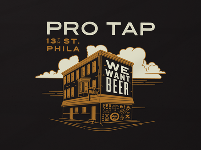 Pro Tap bar branding philadelphia typography design illustration