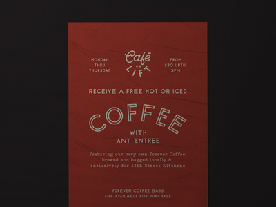 Cafe Lift Coffee Poster
