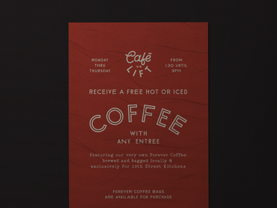 Cafe Lift Coffee Poster poster coffee branding logo typography design