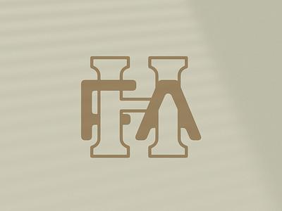 HFA Monogram Concept vintage monogram type mark logo typography design
