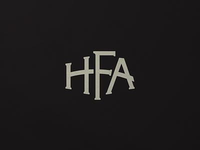 HFA Monogram custom typography branding mark logo monogram logo design monogram