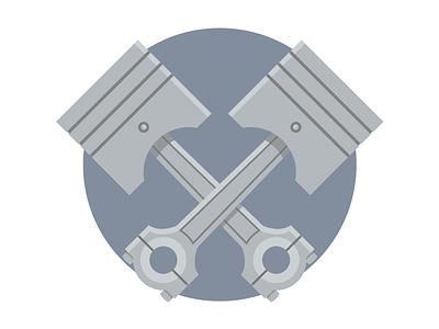 MongoHQ Splash Images - Pistons pistons splash vector illustrator svg flat