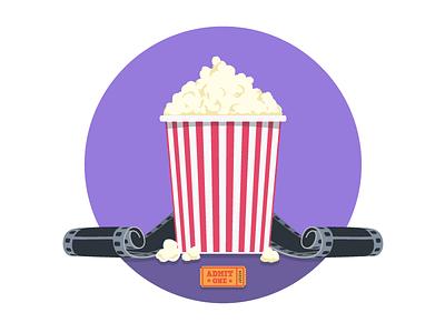 MongoHQ Splash Images - Popcorn popcorn splash vector illustrator svg flat