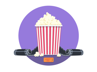 MongoHQ Splash Images - Popcorn popcorn splash vector illustrator svg flat