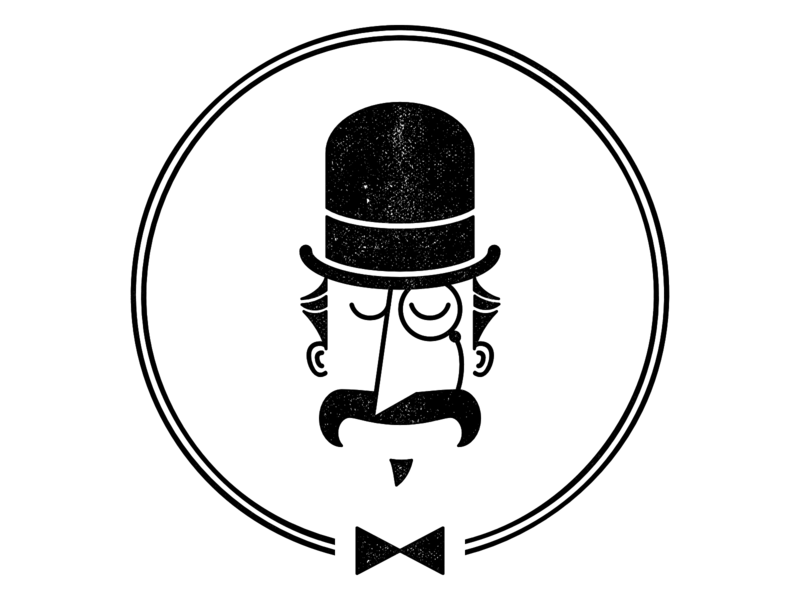 Monocular Spectacular fancy gentleman monocle svg logo vector
