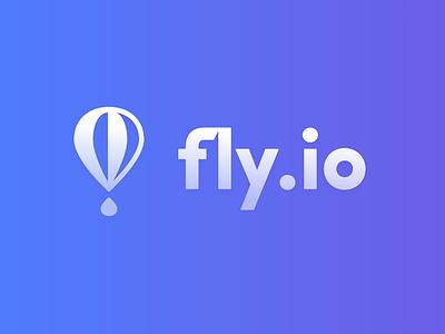 Fly.io Logo logotype logomark fly fly.io balloon vector logo