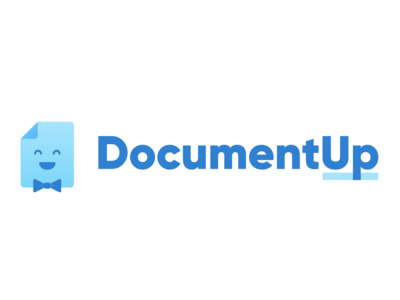 DocumentUp Logo document paper character vector logo