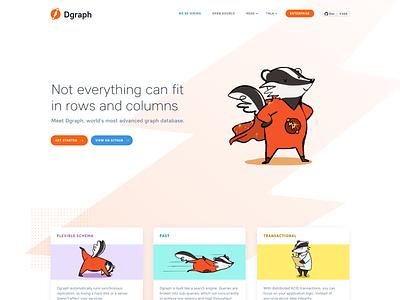 Dgraph Landing Page Redesign landing page marketing site web design ux typography design illustration vector