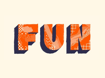 FUN - Because we need it. procreate brushes procreate app procreate pattern art pattern library duotones types patterns pattern letters typography typo