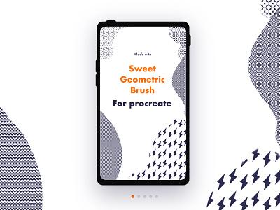 Sweet Geometric Brush for Procreate story design story instagram minimalist minimal seamless free geometric patterns pattern procreate brush procreate brush