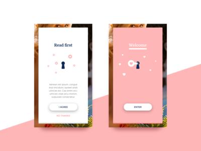 UI Concept for a charming app ongoing concept enter appdesign mobiledesign mobile app user interface ui